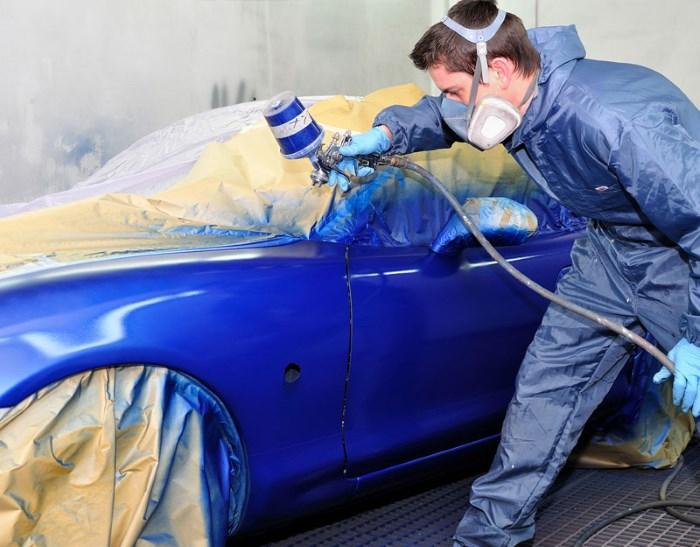 боядисването на автомобила