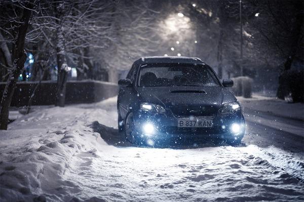 колата през зимата