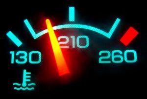 прегряване на двигателя